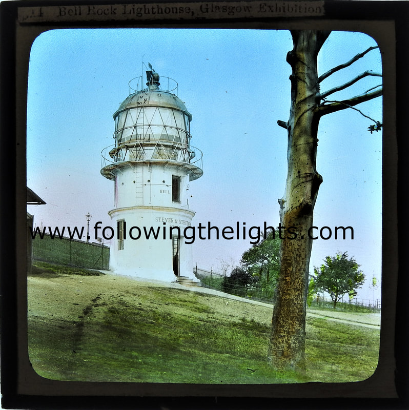 Lighthouse at Glasgow Exhibition named the Bell Rock Lighthouse. c1888