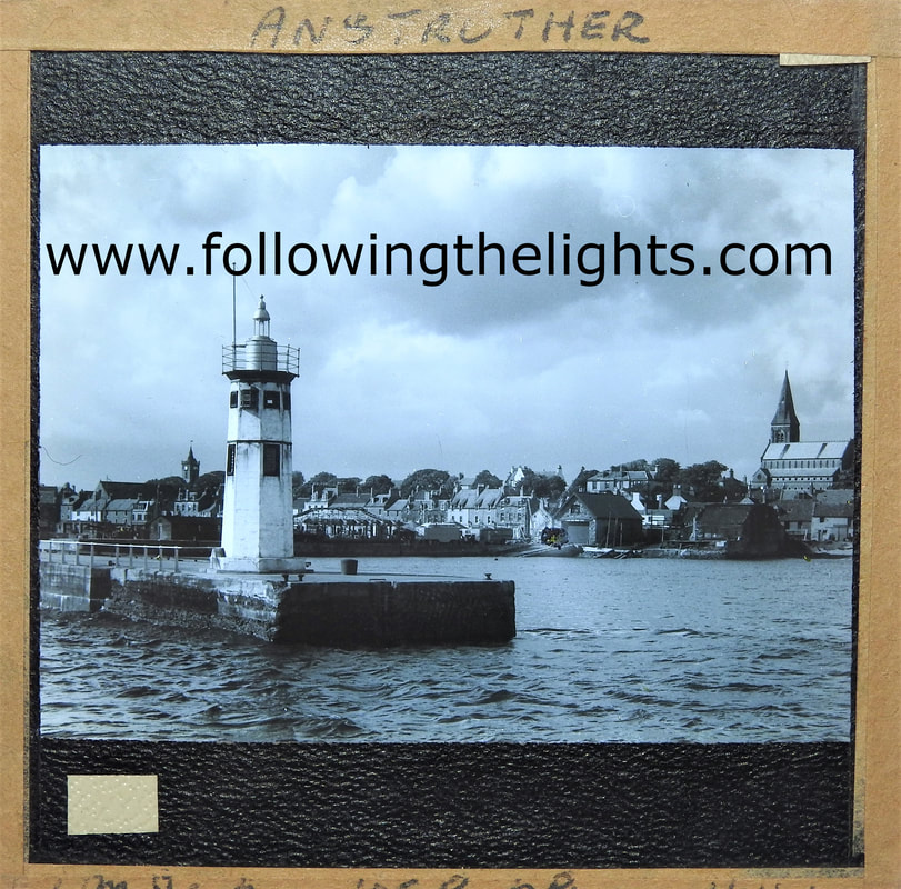 Anstruther Harbour Lighthouse Scotland.
