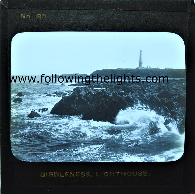 View of Girdle Ness Lighthouse Aberdeen.